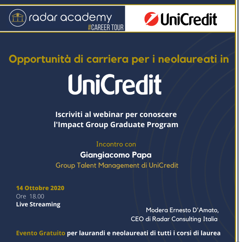 Terza tappa del Radar Career Tour: UniCredit Banca 7